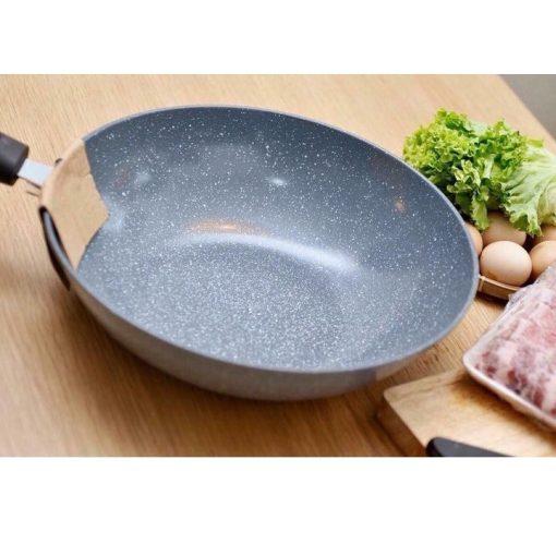 Chảo đá Ceramic chống dính 32cm dùng cho mọi loại bếp